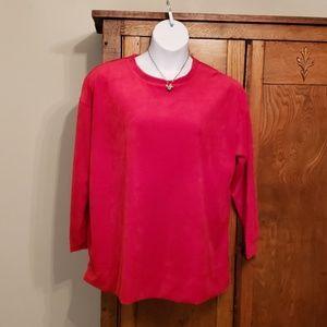 NWOT Red velvet tunic size 18/20
